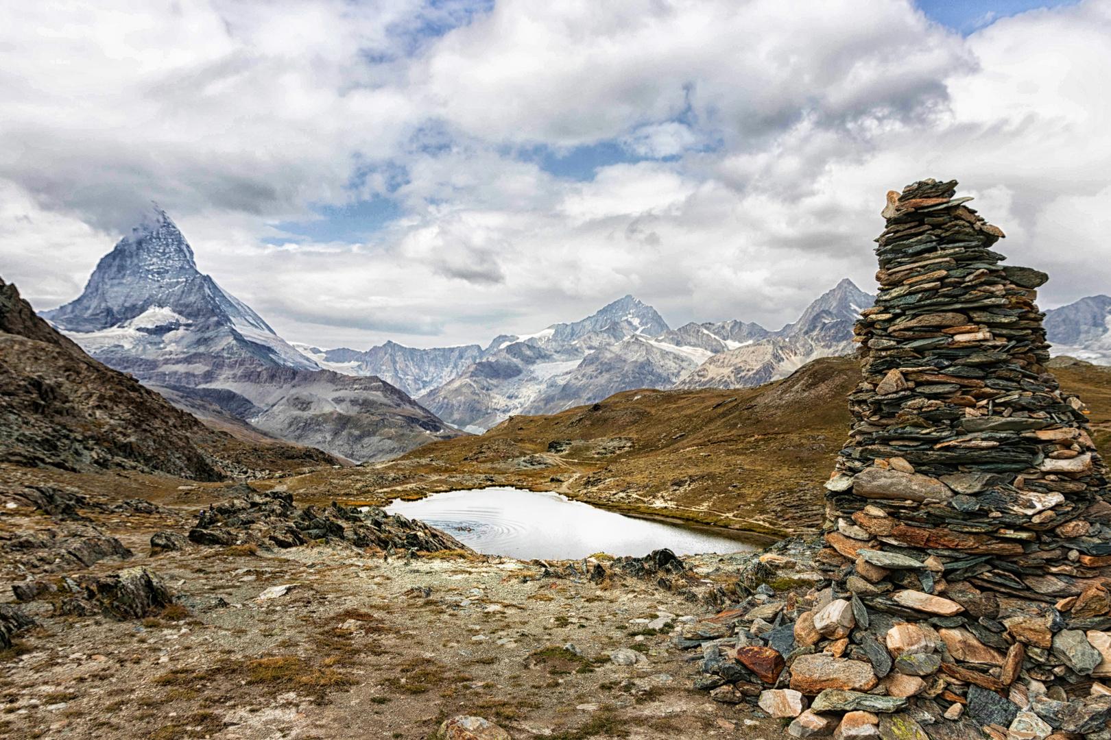 Bergwelten - Matterhorn -  künstliche und echte Berge