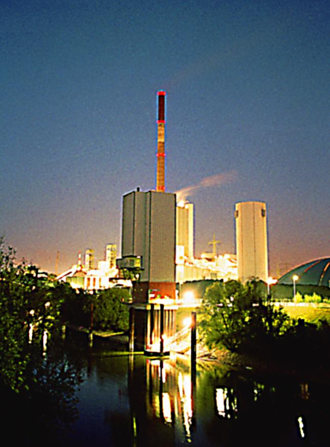 Bergwerksgesellschaft Walsum mit Hafen und Kraftwerk