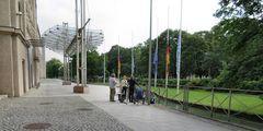 Berichterstattung vor der  Bayerischen Staatskanzlei  - München 23.7.2016