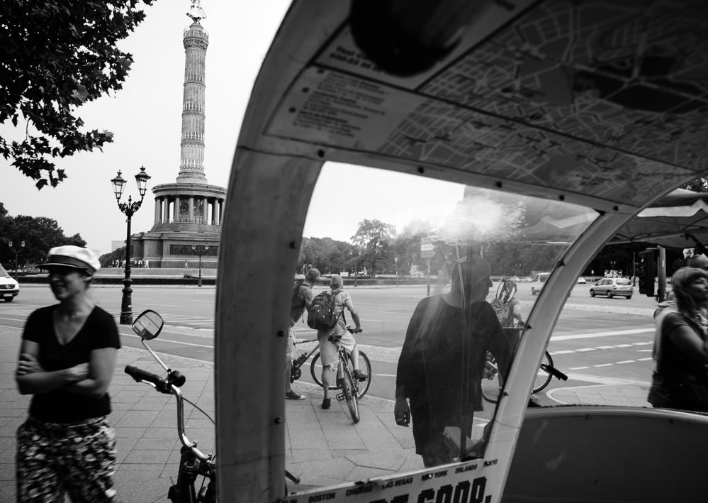 Berlin, August 2013: Warten an der Siegessäule