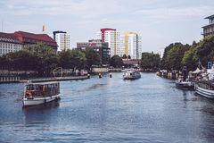 Berlin - Blick über die Spree / Historischer Hafen
