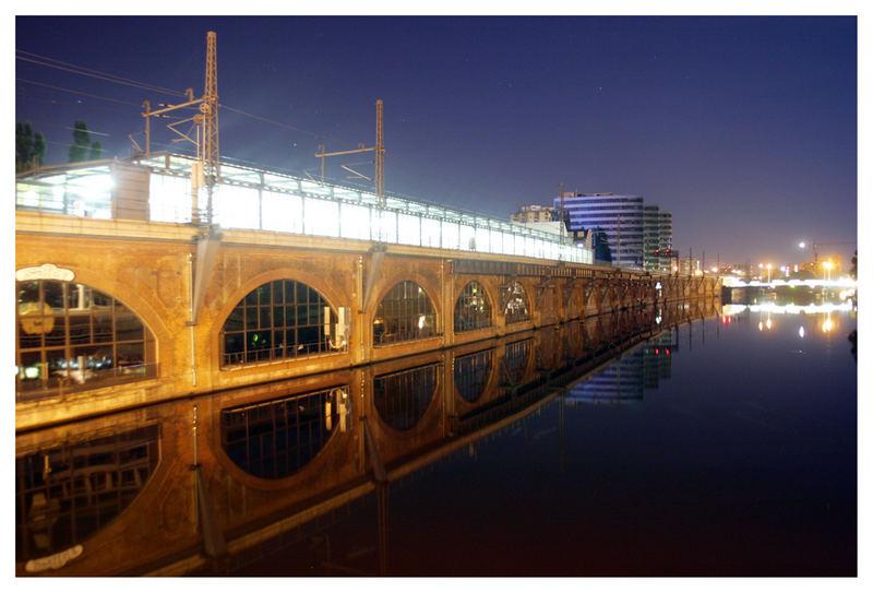 Berlin - Jannowitzbrücke bei Nacht