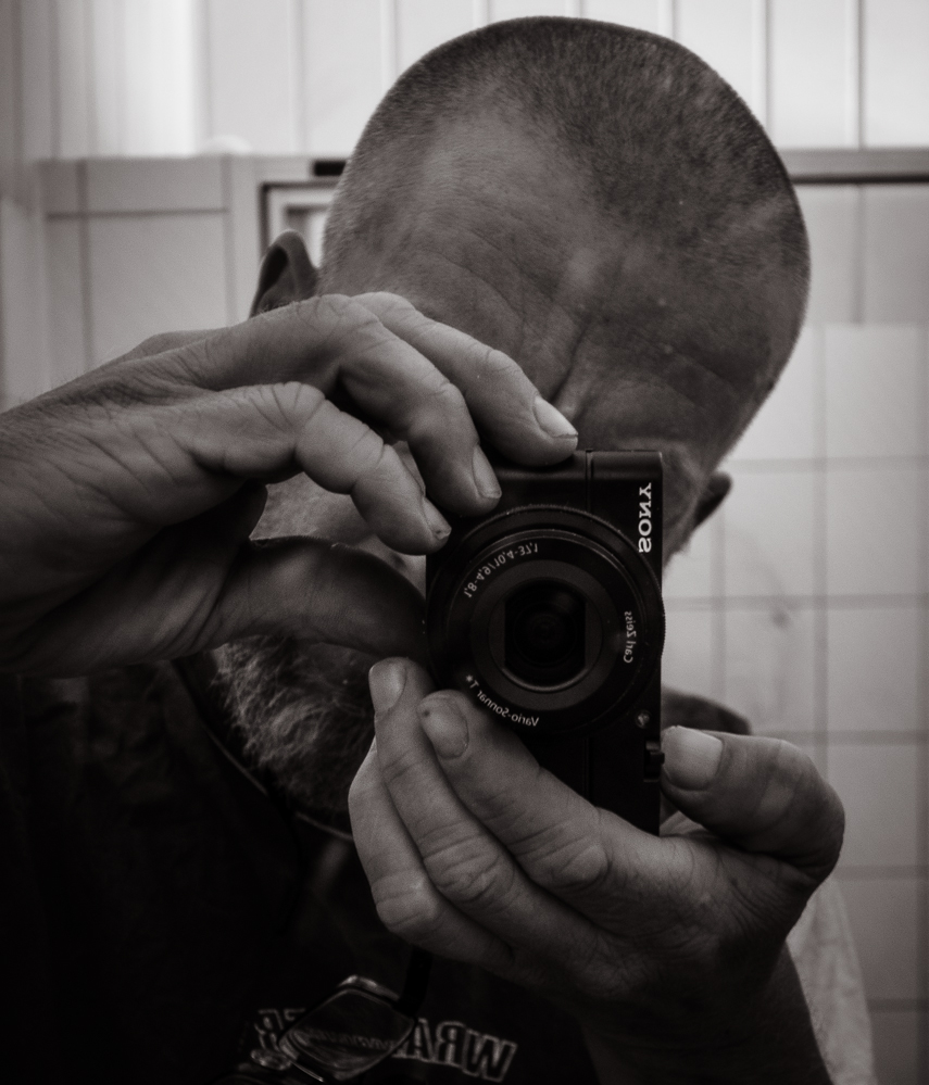 Berlin, July 2014: Self with small camera
