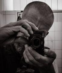 Berlin, July 2014: Self with small camera