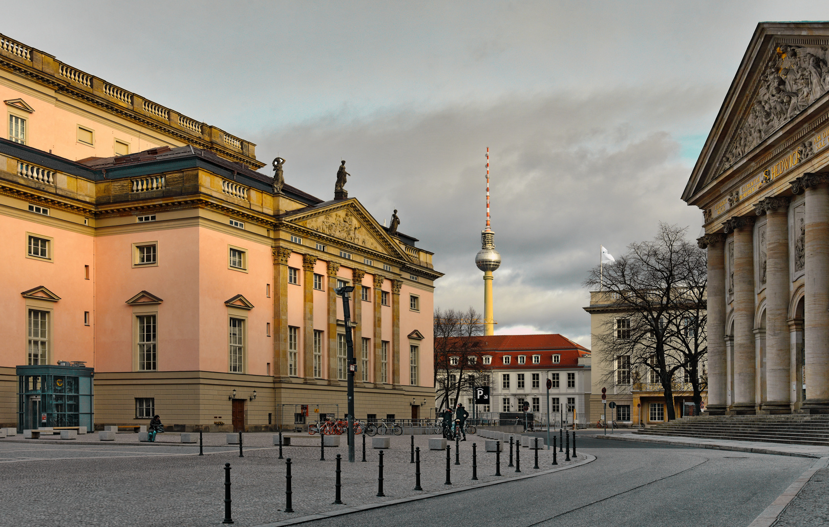 Berlin Mitte  - Blick zum Alex -