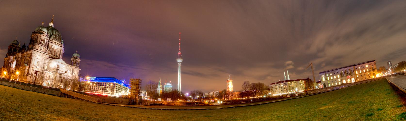 Berlin Mitte Panorama Nachts