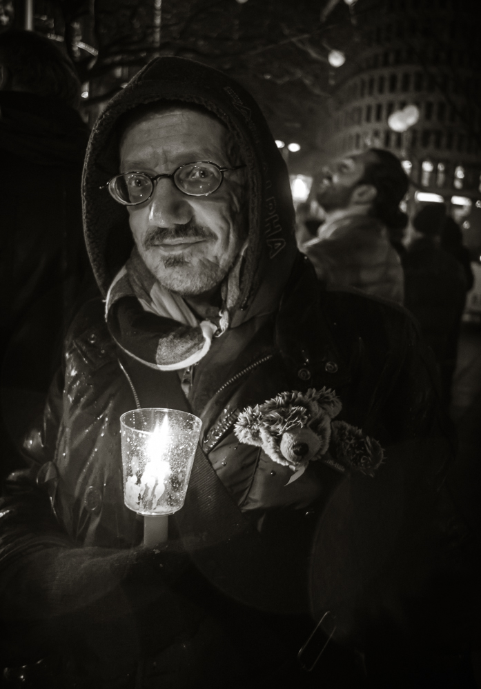 Berlin, November 2015: Bärchen und Kerze