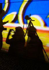 Berlin, Oktober 2014: Bebelplatz, drei Schatten