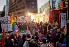 Berlin, Potsdamer Platz Februar 2014: open your Mouth.