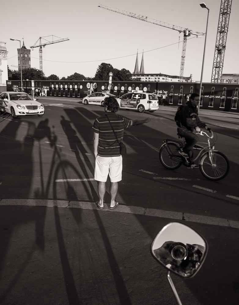 Berlin, September 2013: Der knipsende Rikschafahrer