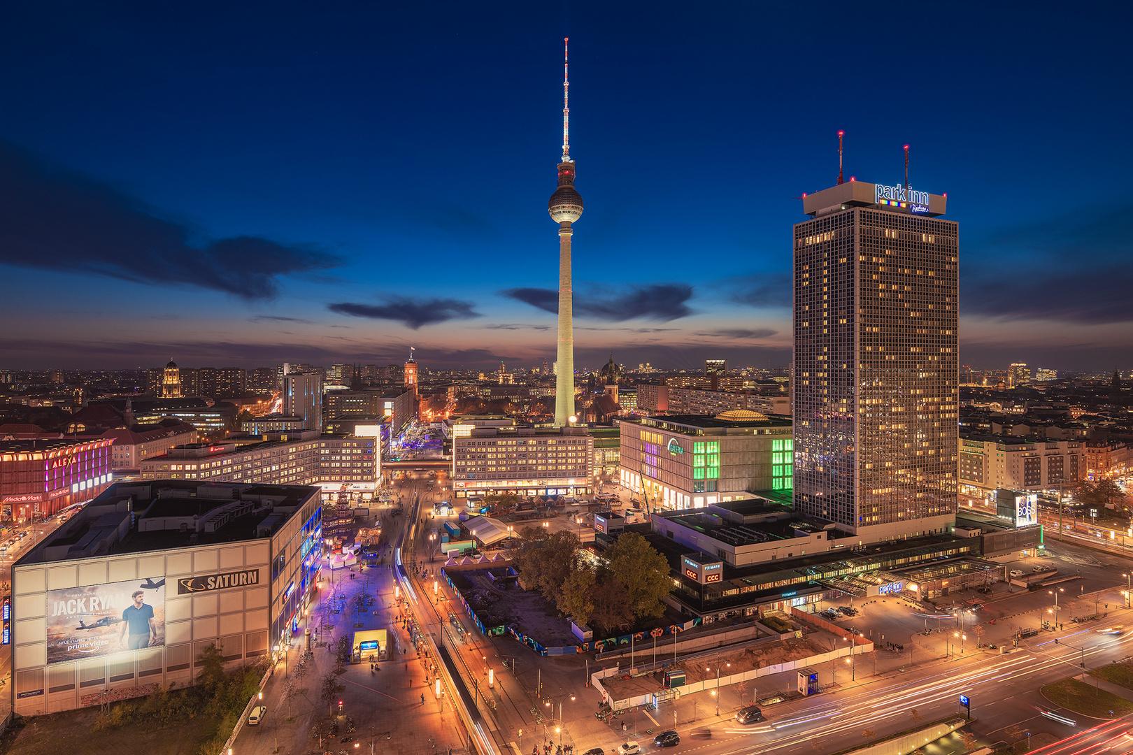 Berlin - Skyline am Alexanderplatz