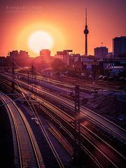 Berlin - Sonnenuntergang im Friedrichshain