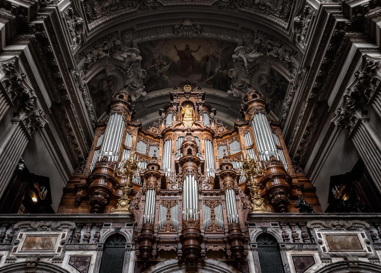 Berliner Dom Blick Hoch Zur Orgel Foto Bild Kunstfotografie