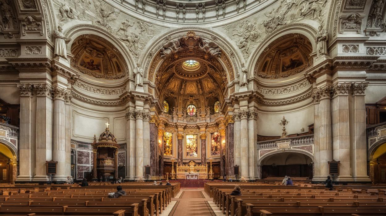 Berliner Dom Blick Zum Altar Foto Bild Architektur