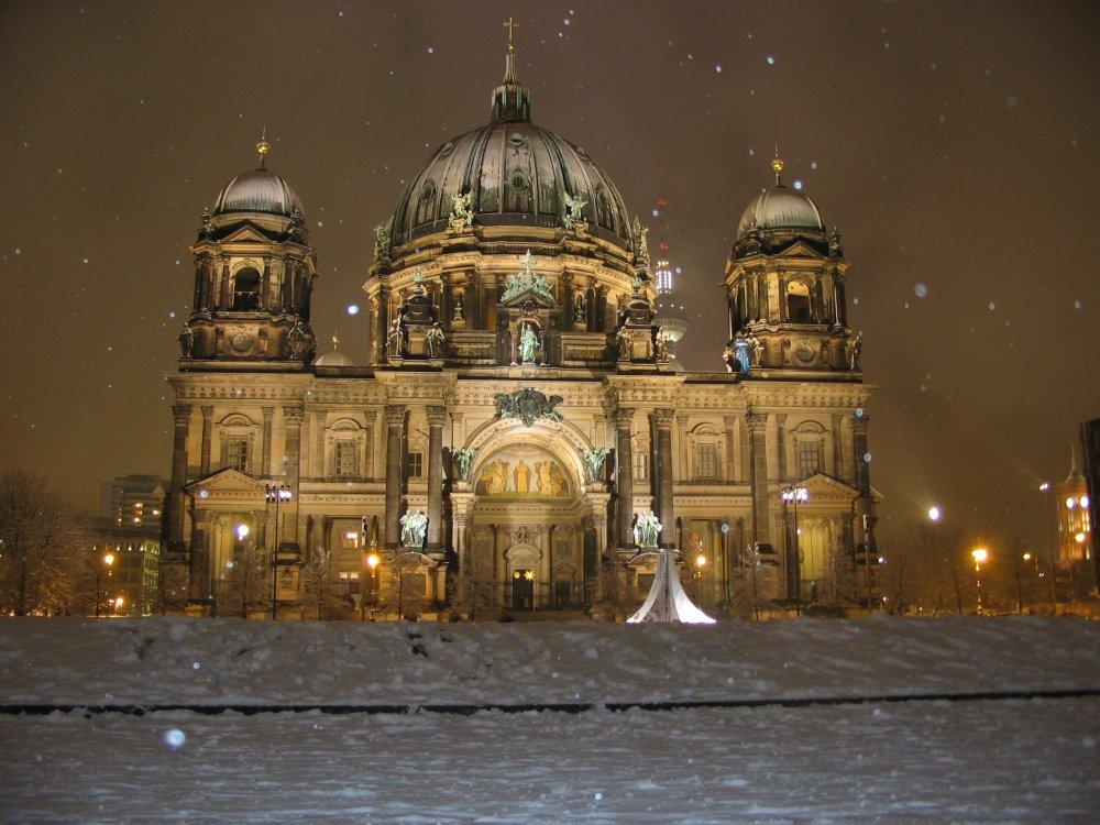 Berliner Dom in der (Winter) Nacht #2