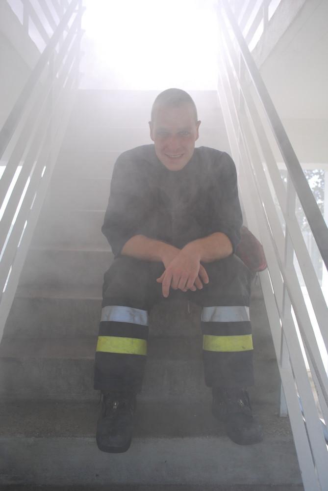 Berliner Feuerwehr: Man in fire