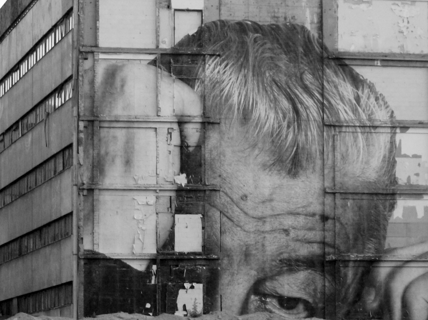Berliner Häuserwand,kurz vor dem Abriss