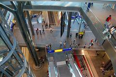 Berliner Hauptbahnhof von innen