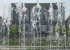 Berliner Kanzleramt / Wasserspiel vor der Waschmaschine