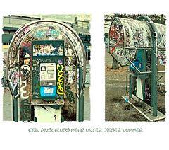 Berliner Telefonzelle in Zeiten der Handys