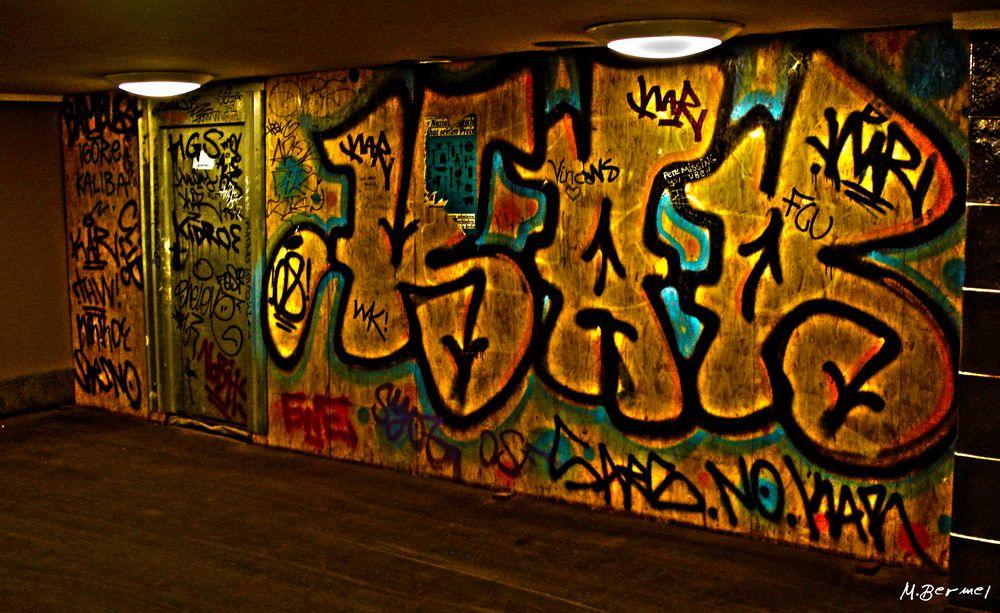 Berliner U-Bahn Graffiti