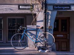 Bern Matte, Stilleben mit Fahrrad