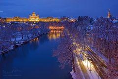 Bern und das Bundeshaus im Winter