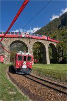Bernina Express in Brusio