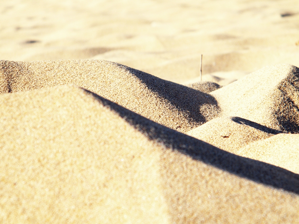 beruhigter Sand