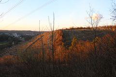 Besigheim in der Abendsonne vom Bietigheimer Forst aus (ehemals zu Besigheim)
