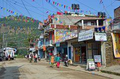 Besisahar liegt am Ende des Manaslu-Treks