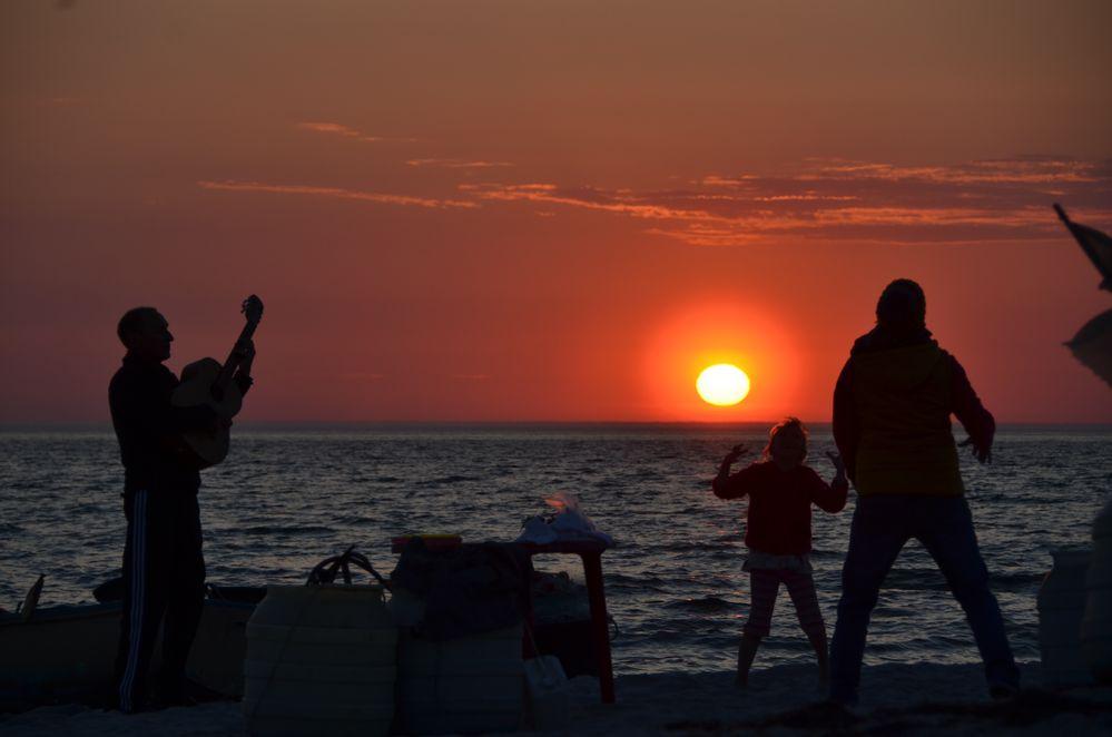 Besonderer Sonnenuntergang