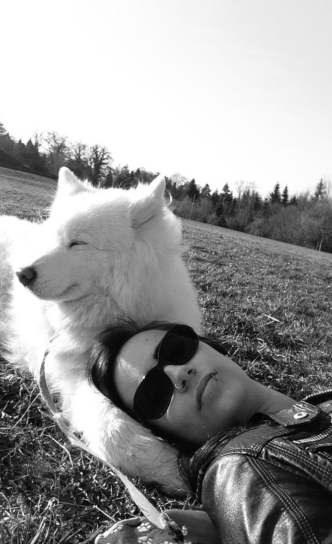 Best friends enjoying the sun.