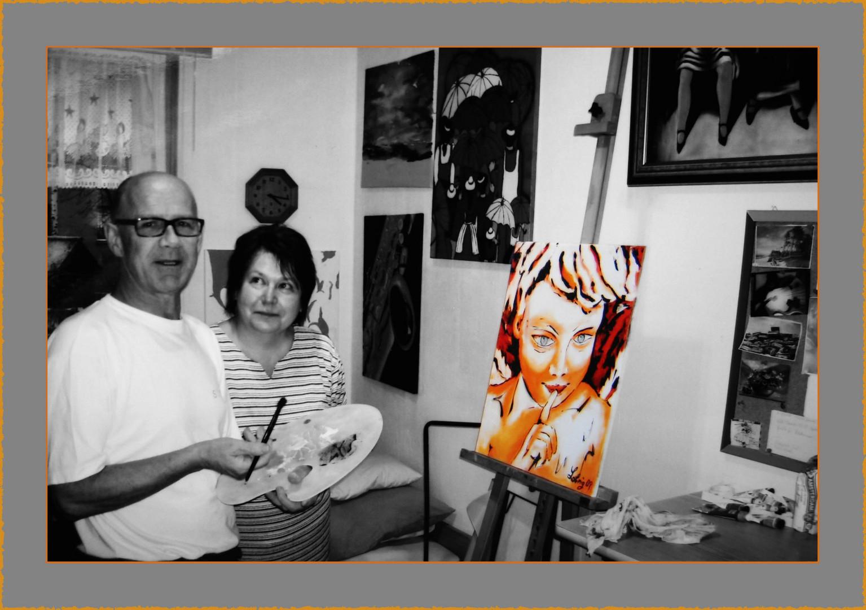 Besuch beim Maler