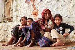 Besuch einer indischen Familie