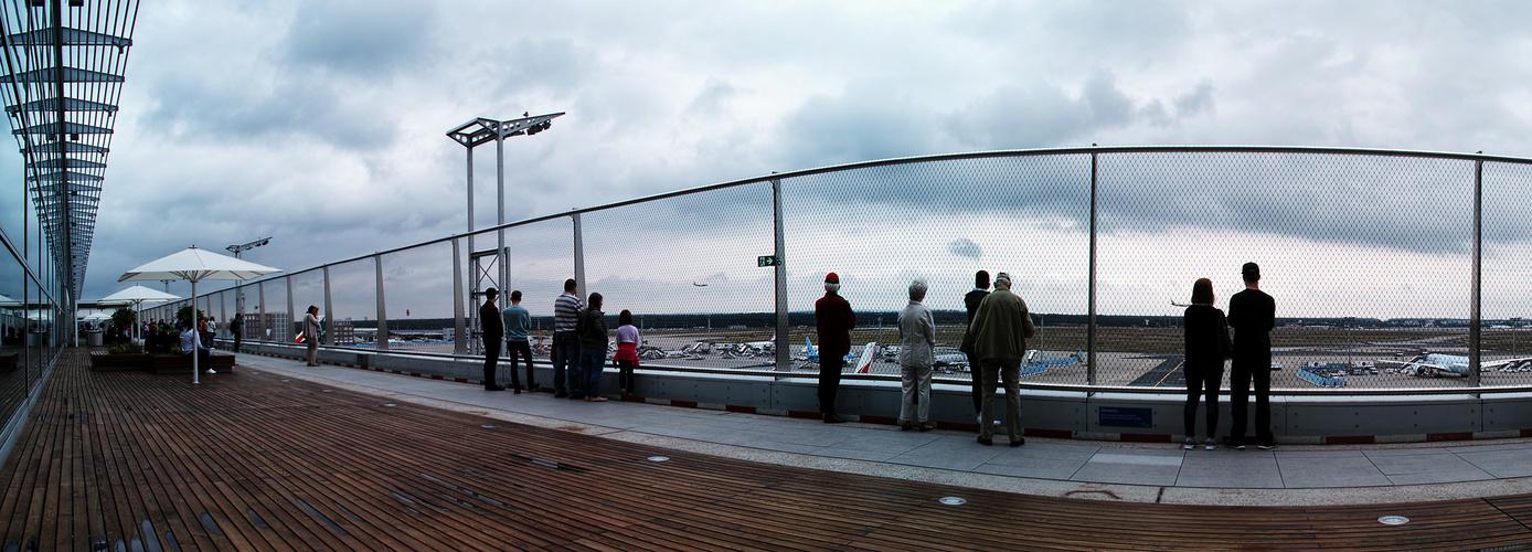 Besucherterasse Frankfurter Flughafen Foto Bild Panorama Motive