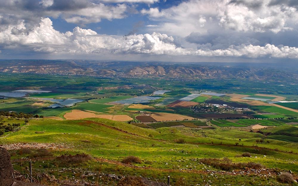 """Beth Sha´an Ebene, von der Burg """"Belvoir"""", Israel"""
