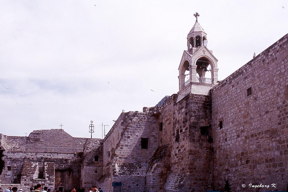 Bethlehem - Geburtskirche - Seitenmauer