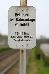 Betreten der Bahnanlage