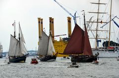 Betrieb auf der Warnow zur Hanse Sail 2013
