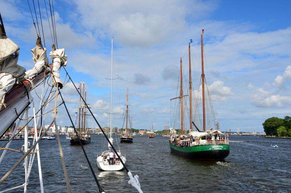 Betrieb zur Hanse Sail 2013
