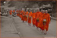 Bettelgang der Mönche