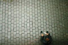 Bettler am Strassenrand