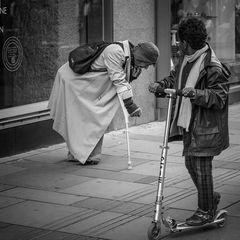 Bettler und Kind