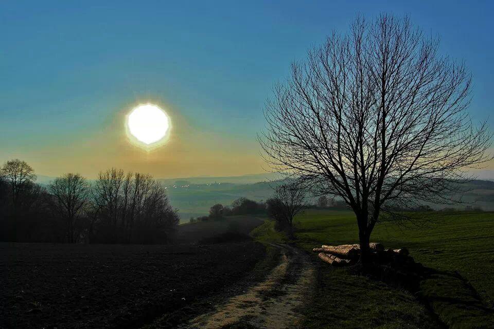 bevorstehender Sonnenuntergang