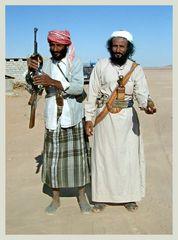 bewaffnete Beduinen