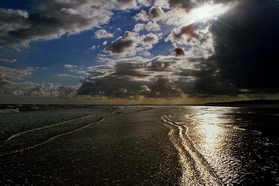 Bewegende Gewitterstimmung am Meer auf Juist