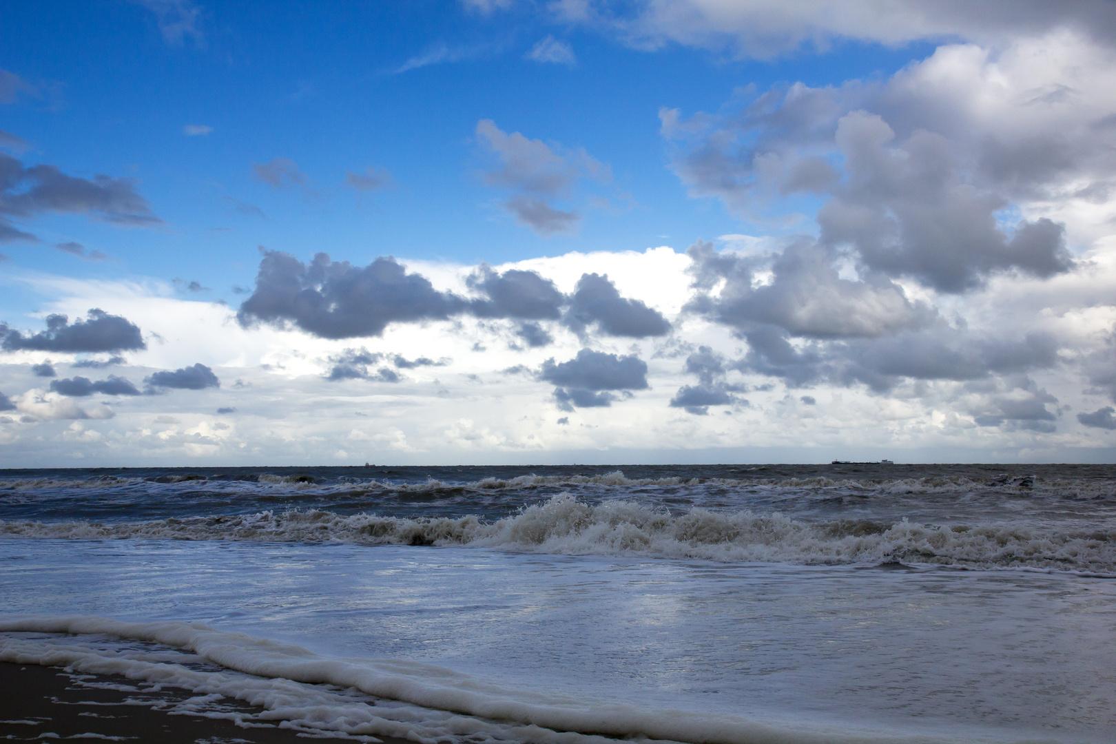 Bewegung am Strand