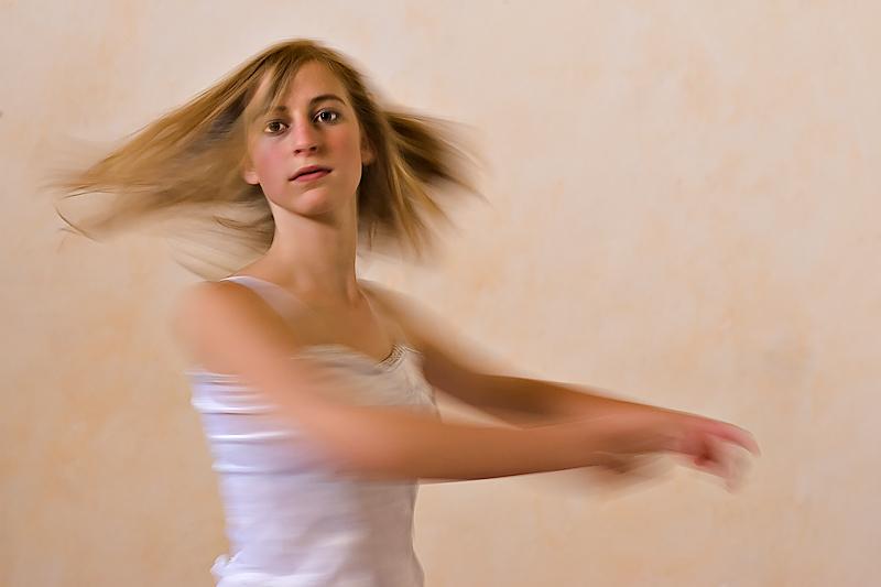 Bewegungsstudie einer Ballerina
