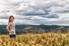 Bianca im Getreide